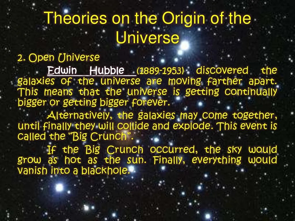 Theories Explaining The Origin Of The Universe