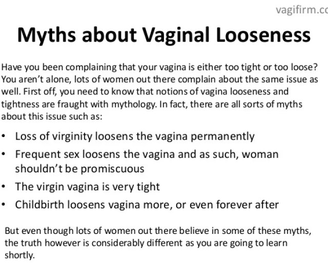 The Unknown Truth About Vaginal Tightness And Looseness Vagifirm Com 2
