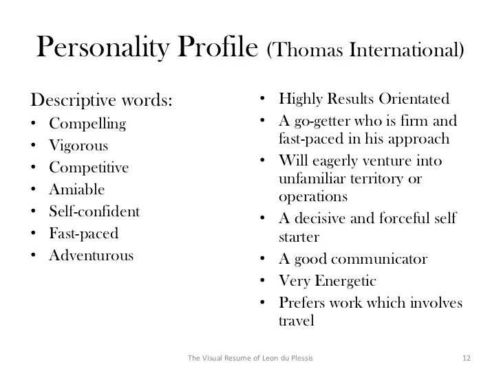 Descriptive Words For A Resume Resume Ideas