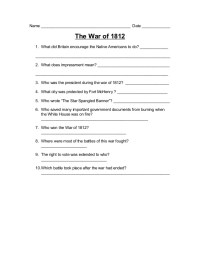 Printables. War Of 1812 Worksheet. Mywcct Thousands of ...