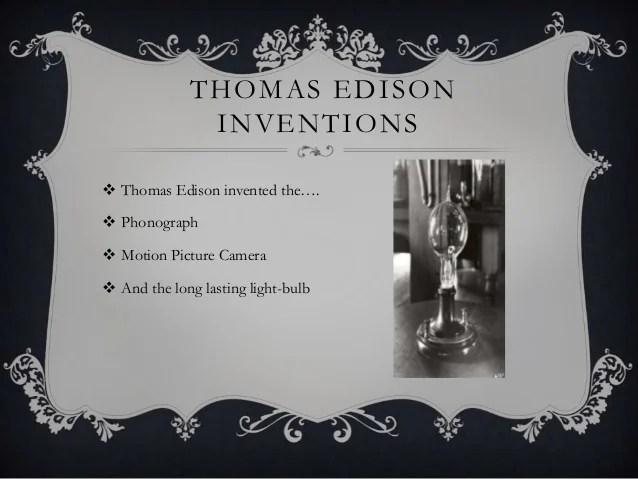 Thomas Alva Edison Inventions