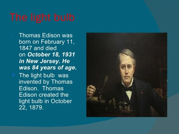 a biography of thomas alva edison an american experts on electricity Thomas alva edison is one of the greatest american inventors who held  he  acquired a partnership in a new york electrical company in 1869, where he  honed  and development laboratories, with experts systematically investigating  and.