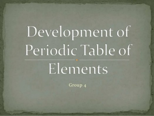 development of periodic table timeline - Periodic Table Timeline