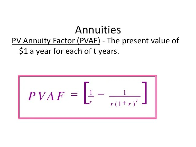 pv of annuity formula