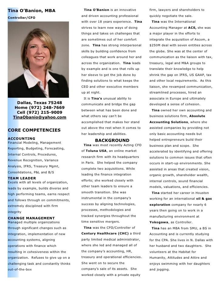 Tina Bio Accounting Professional