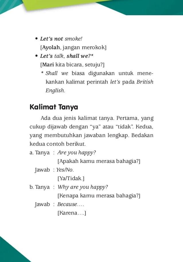 Pelajaran Bahasa Inggris (English Lesson): BENTUK PERTANYAAN...
