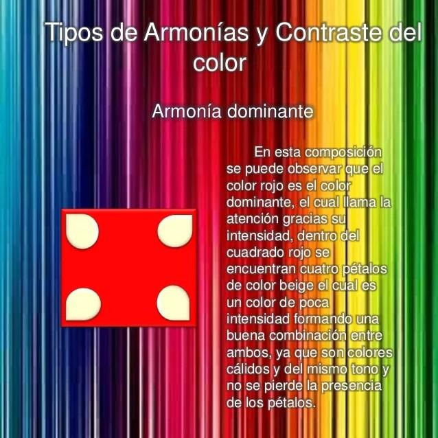 Tipos de armonias y contraste del color
