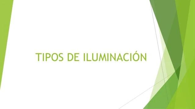 Tipos de iluminacin
