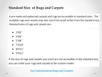 Tips for choosing size of rug or carpet