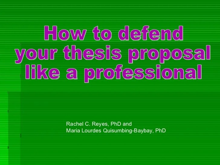 how in order to protect a new thesis headline proposal