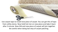 Tips to do carpet patching