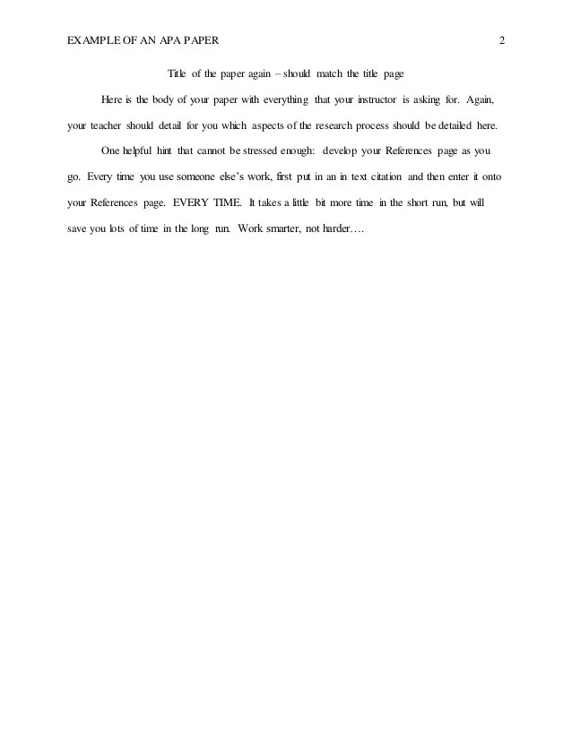 Apa Format Abstract Page