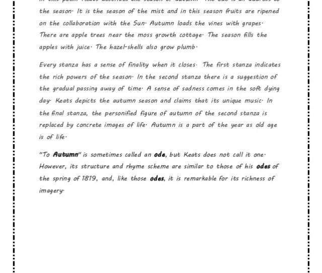 to autumn by john keats explanation