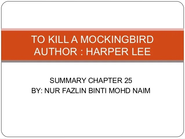 chapter 1 summary of to kill a mockingbird by harper lee