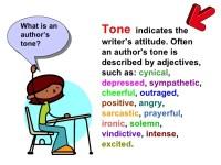 Tone And Mood