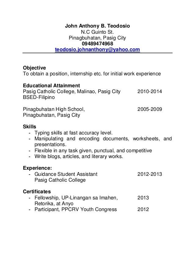 Tony Resume