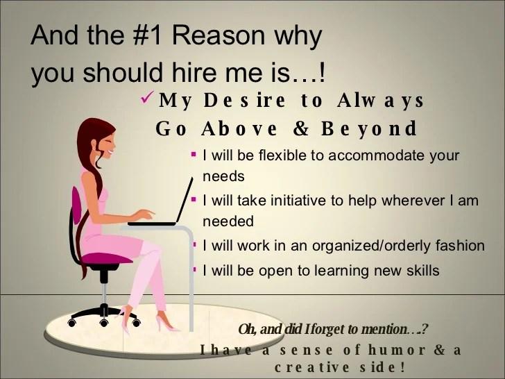 Top 10 Reasons You Should Hire Me