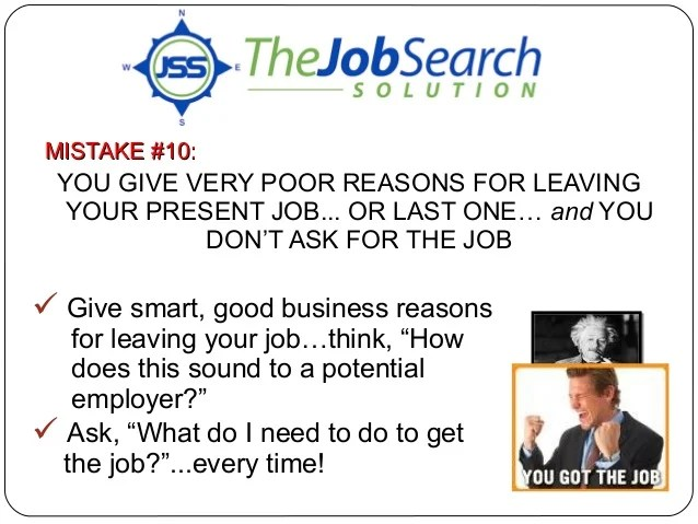 what is a good reason for leaving a job best good 2017