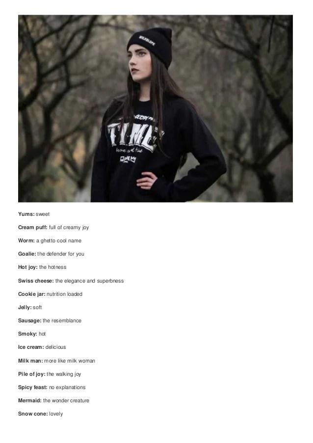 Top 100 cute ghetto nicknames for white girls cute nicknames