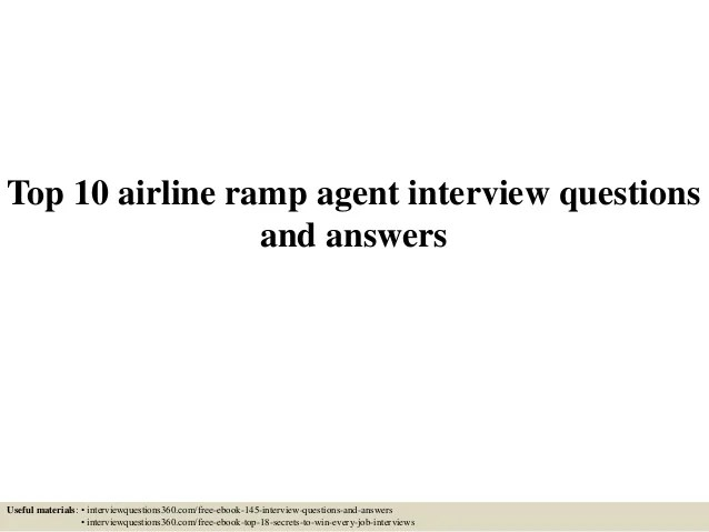 Airline Ramp Agent Cover Letter