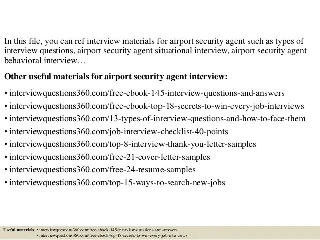 Top 10 Airport Security Agent Interview Questions And Answers