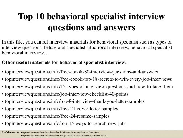 example of behavioral interview questions