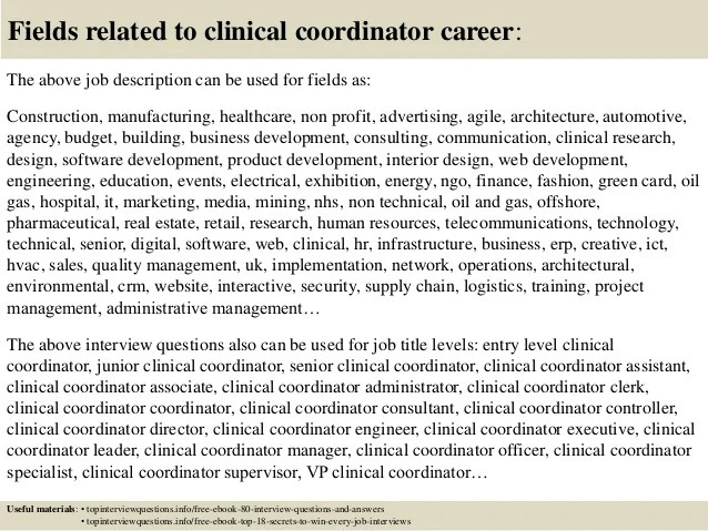 Top 10 Clinical Coordinator Interview Questions And Answers