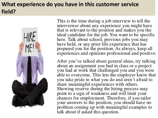 Top 10 customer service interview questions and answers