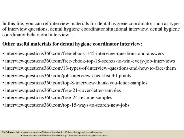 Top 10 Dental Hygiene Coordinator Interview Questions And