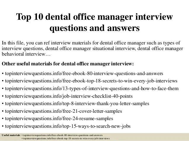 dental assistant interview answers
