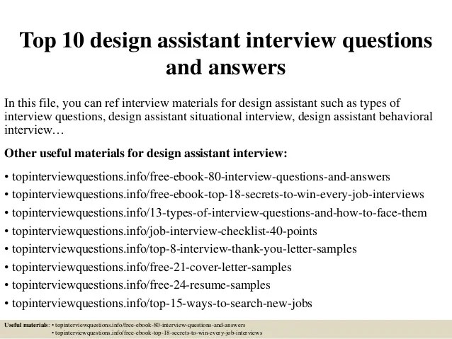 Top 10 Design Assistant Interview Questions And Answers 1 638 ?cb=1427175983