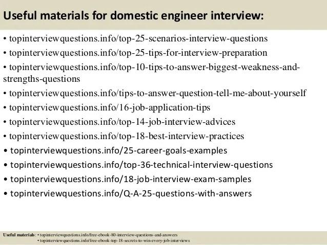 Domestic Engineer Jobs