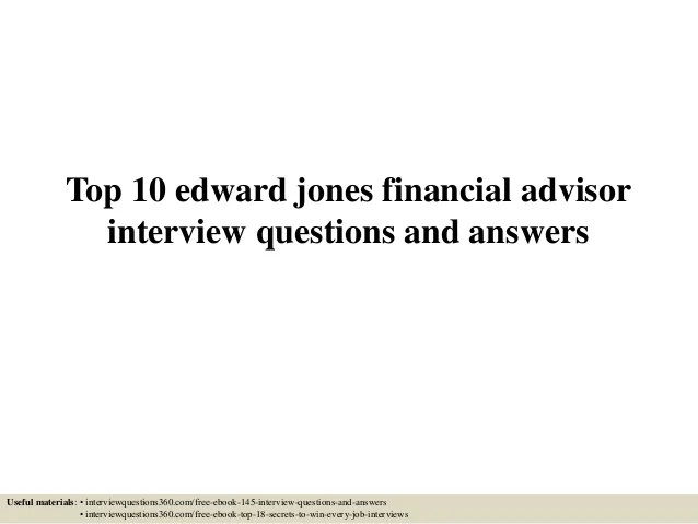 financial advisor interview questions and answers