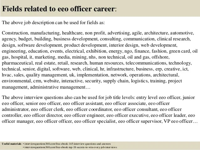 Top 10 eeo officer interview questions and answers