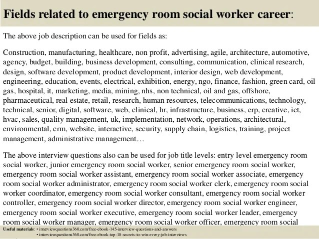 Top 10 emergency room social worker interview questions and answers