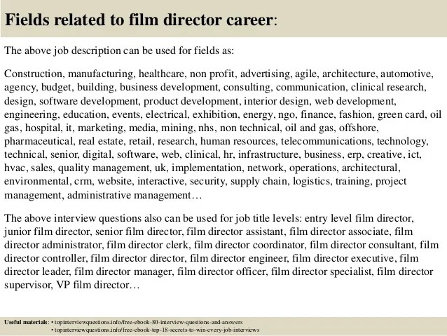 Top 10 Film Director Interview Questions And Answers