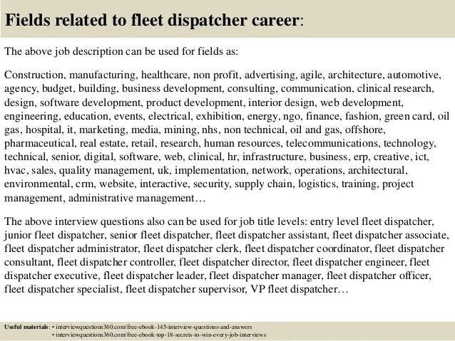 Top 10 Fleet Dispatcher Interview Questions And Answers