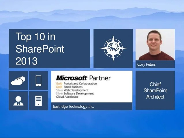 Top 10 In Sharepoint 2013