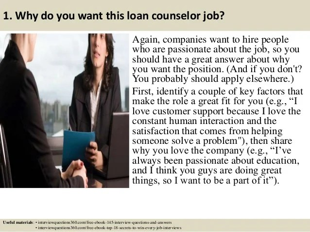 Top 10 loan counselor interview questions and answers