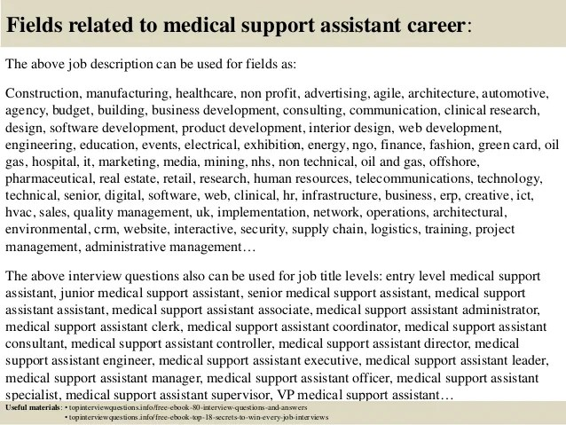 Top 10 medical support assistant interview questions and answers