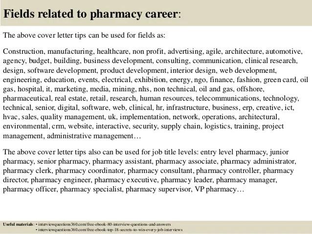 Pharmacy Consultant Cover Letter - sarahepps.com -