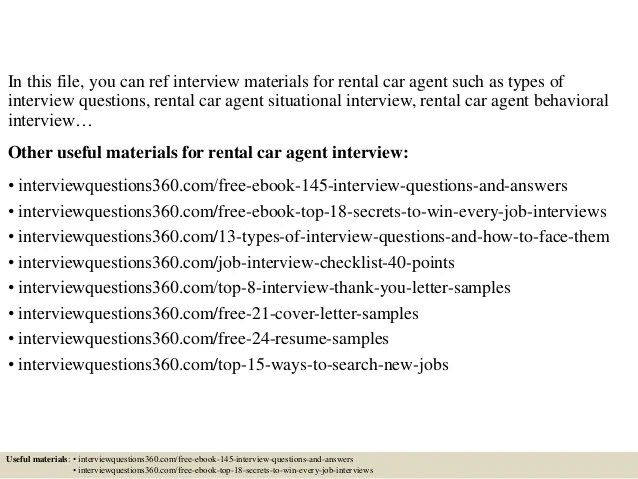 Top 10 rental car agent interview questions and answers
