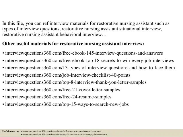 Nursing Interview Questions And Answers Sample - Resume