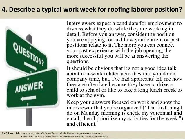 roofing laborer duties general laborer job description