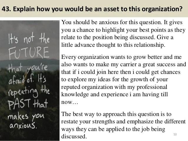 define success interview question