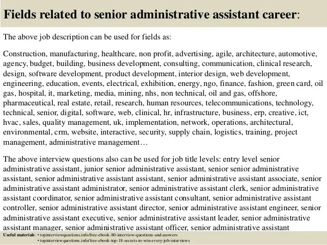 Top 10 senior administrative assistant interview questions and answers