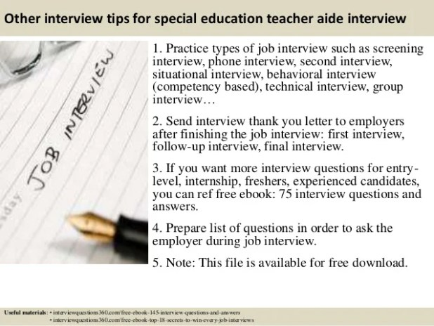 Best Teachers Aide Interview Questions Answers Image Collection