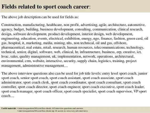 Top 10 Sport Coach Interview Questions And Answers