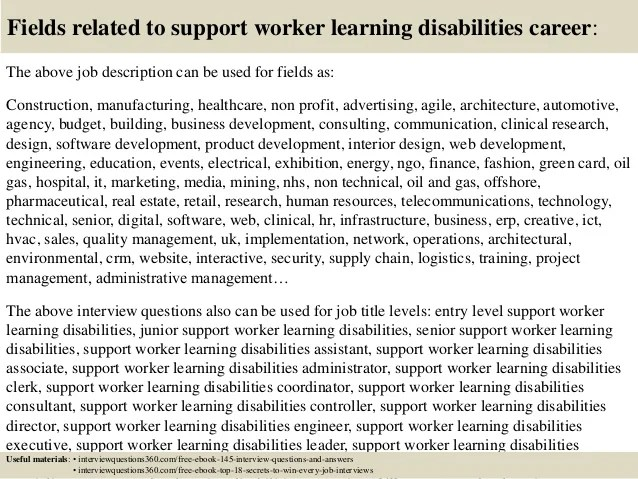 Top 10 Support Worker Learning Disabilities Interview