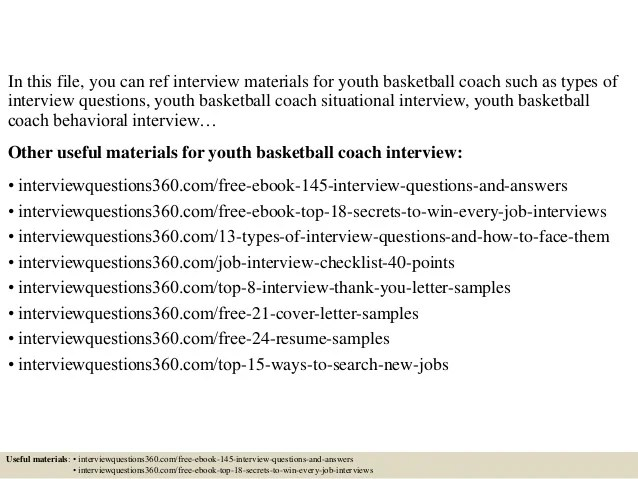 Top 10 youth basketball coach interview questions and answers